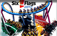 Six Flags Theme Park near Hotel Vicenza